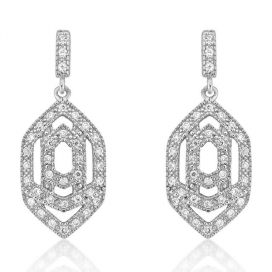 V Jewellery Marquise Interlock Earrings