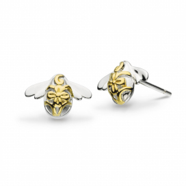Kit Heath Blossom Bumblebee Gold Vermeil Studs