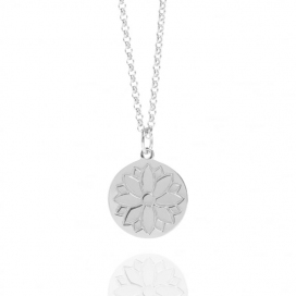 Muru Silver Harmony & Wellbeing Purity Coin Necklace