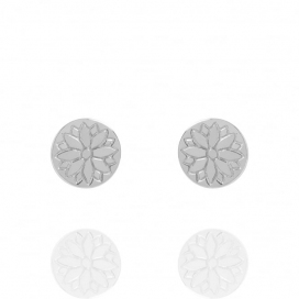 Muru Silver Harmony & Wellbeing Purity Coin Stud Earrings