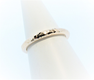 Anouska Ring 9ct Rose Gold Glitter Hammer Hand Made By Mark Riley
