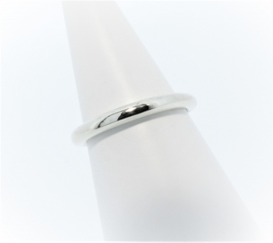 Anouska Ring 9ct White Gold Polished Hand Made By Mark Riley