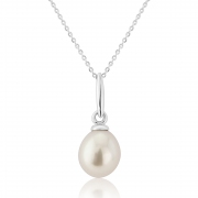 9ct White Gold Cultured Pearl Pendant