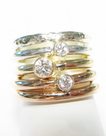 Anabelle Diamond Solitaire Ring Hand Made By Mark Riley