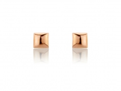 9ct Rose Gold Square Stud Earrings