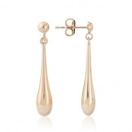 9ct Rose Gold Bomber Drop Earrings