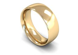 Heavy Weight Traditional Court 8mm Wedding Ring in 9ct Yellow Gold