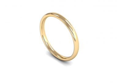 Classic Weight Slight Court 2mm  Wedding Ring in 9ct Yellow Gold