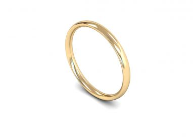 Classic Weight Traditional Court 2mm Wedding Ring in 9ct Yellow Gold