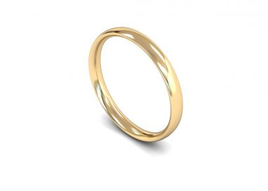 Classic Weight Traditional Court 2.5mm Wedding Ring in 9ct Yellow Gold