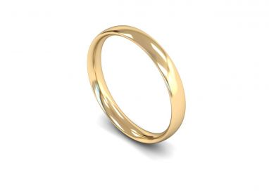 Classic Weight Traditional Court 3mm Wedding Ring in 9ct Yellow Gold