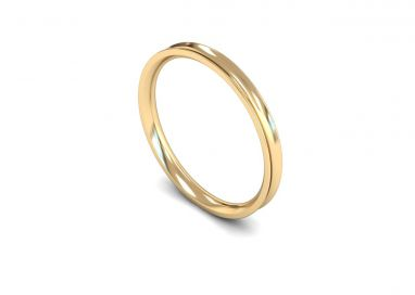 Classic Weight Concave 2mm  Wedding Ring in 9ct Yellow Gold