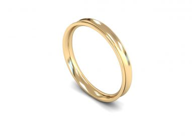Classic Weight Concave 2.5mm  Wedding Ring in 9ct Yellow Gold
