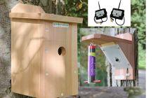 bird box and bird feeder camera kit