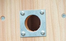 nest box hole plates 32&28mm pair