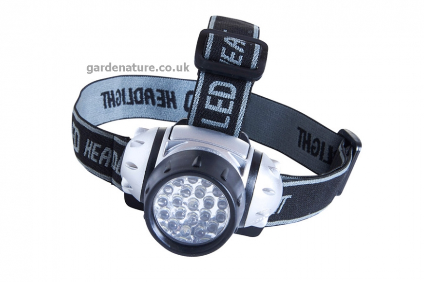 21 LED Head Torch | gardenature.co.uk