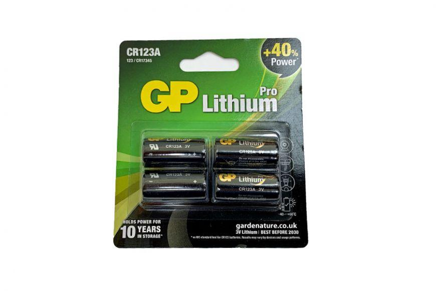 cr123a Pro Lithium Batteries 4pk