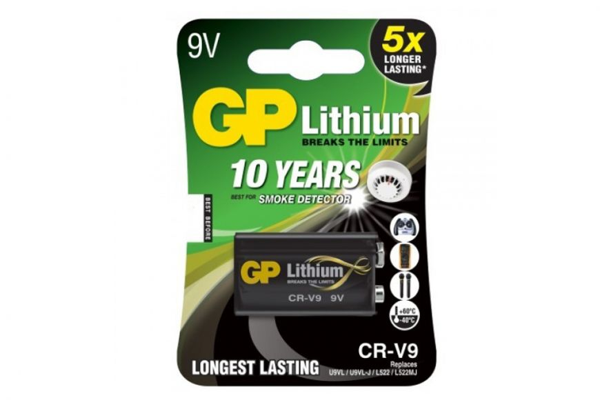 GP PP3 9v Lithium battery