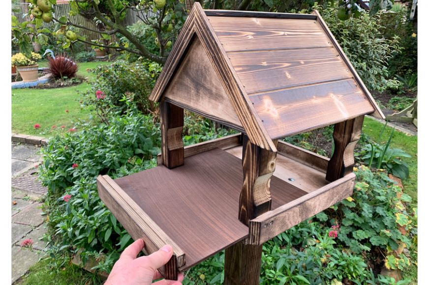 best wooden bird tables | Gardenature