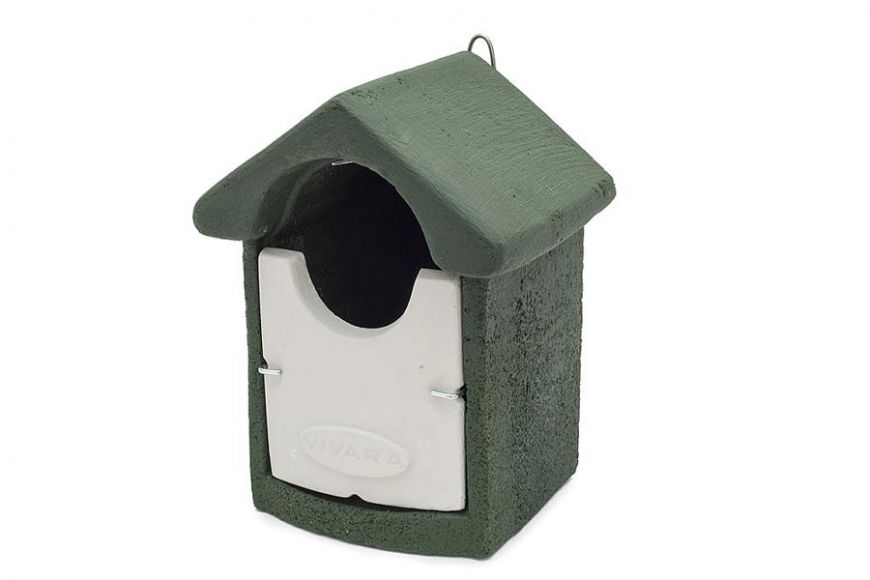 Woodstone open fronted bird box - Green