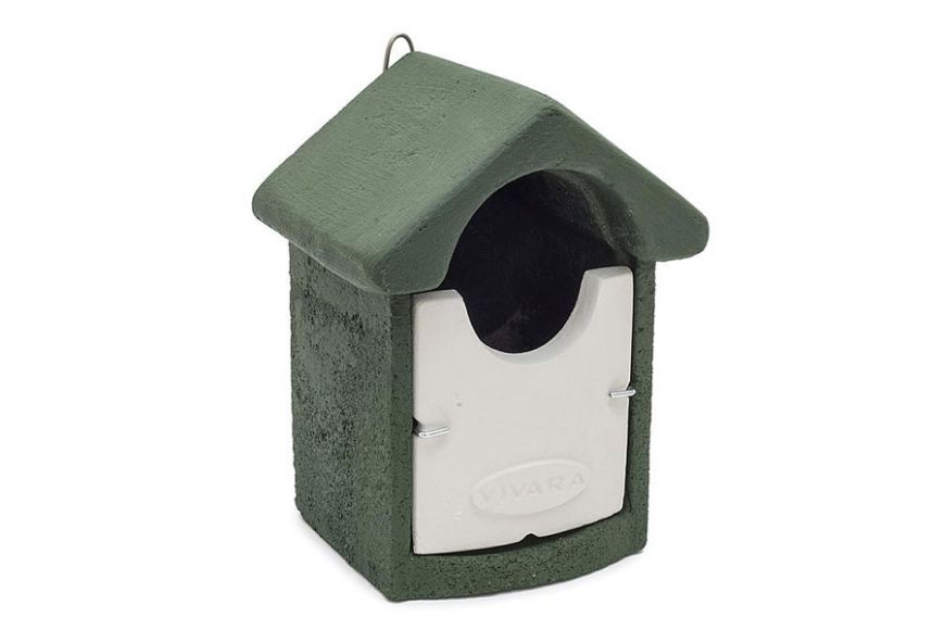Green open fronted bird box | Gardenature