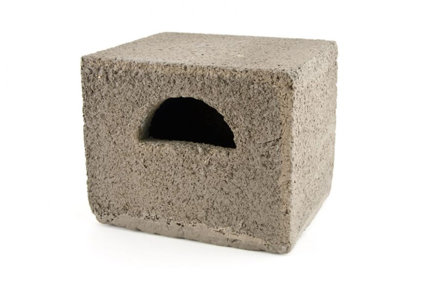 build-in concrete open front nest box