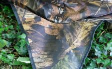 camo pattern birding hide | gardenature