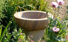 the twist bird bath | gardenature