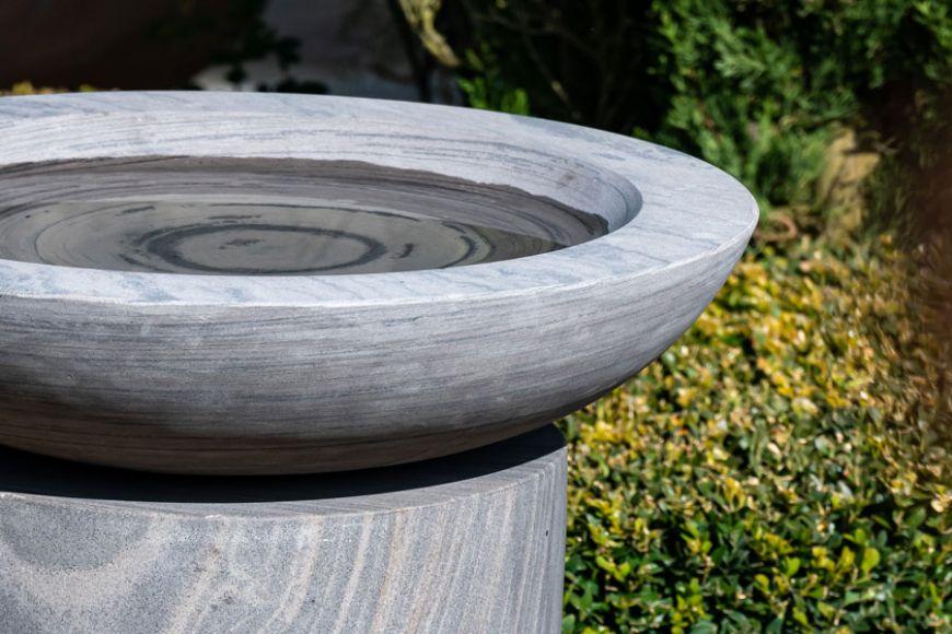 bird bath with pedestal | gardenature