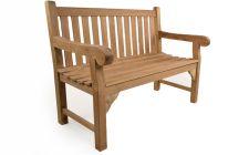4ft teak garden bench