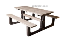 6 seater plastic picnic table