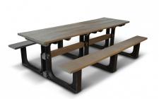 10 seater picnic bench - plastic