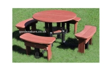 plastic 8 seat picnic table set