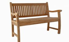 two seater charnwood teak bench