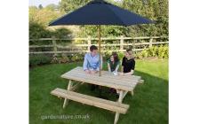 8 seat picnic bench
