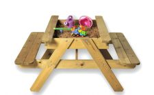 childrens garden sandpit table