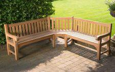 large teak garden benches