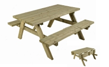 Heavy duty picnic table | gardenature.co.uk