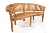 Windsor curved 3 seater bench