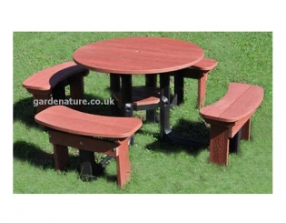 Recycled Plastic Garden Furniture - Tables & Benches | Gardenature
