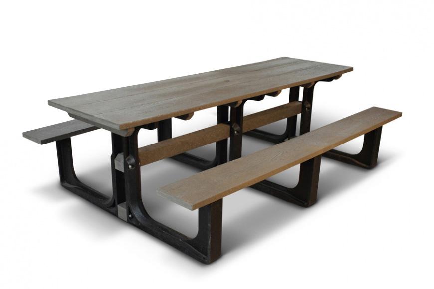 Groovy Large Rectangular Picnic Table Grey Machost Co Dining Chair Design Ideas Machostcouk