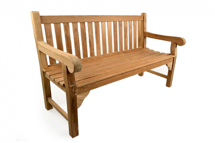 Awesome Queensbury Teak Bench 4Ft Alphanode Cool Chair Designs And Ideas Alphanodeonline