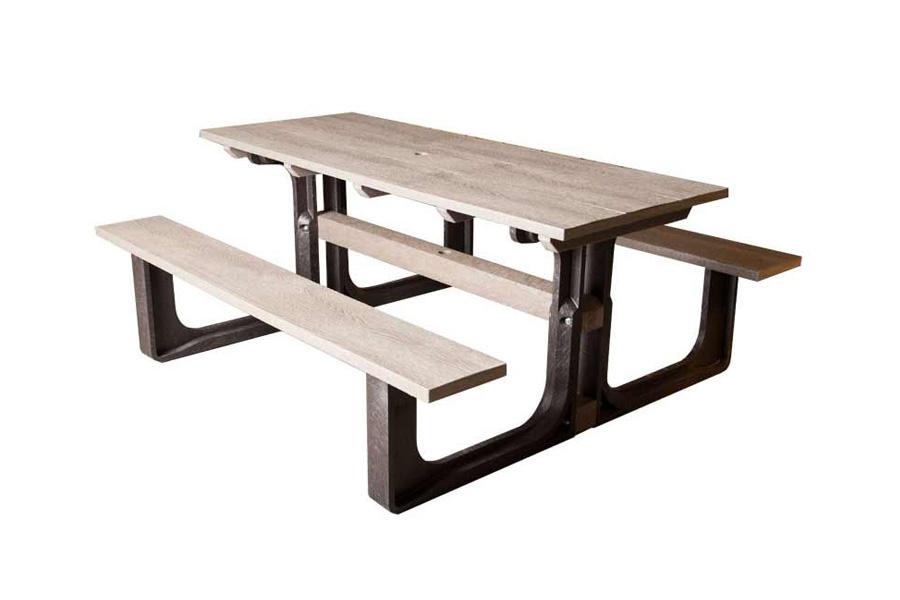 Outstanding Med Rectangular Picnic Table Grey Machost Co Dining Chair Design Ideas Machostcouk