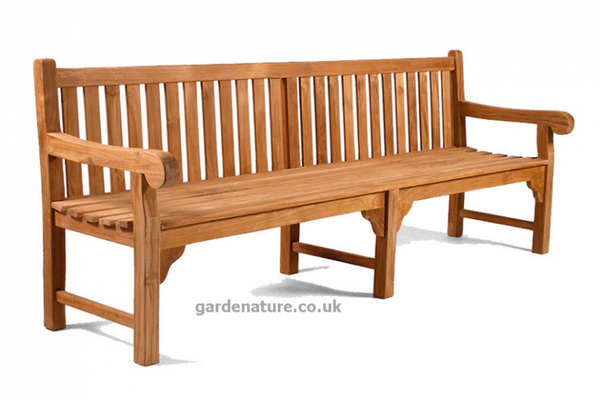 large 6 seater teak bench