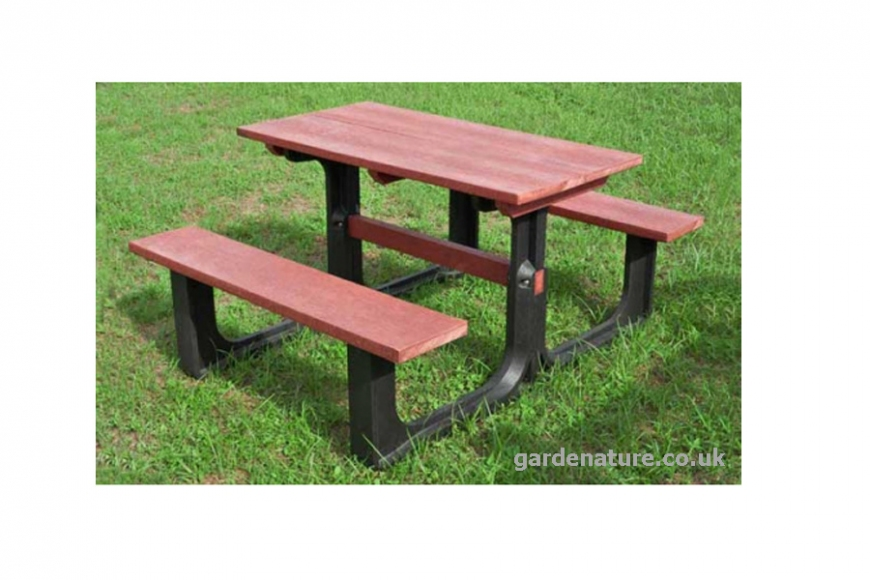plastic commercial picnic bench