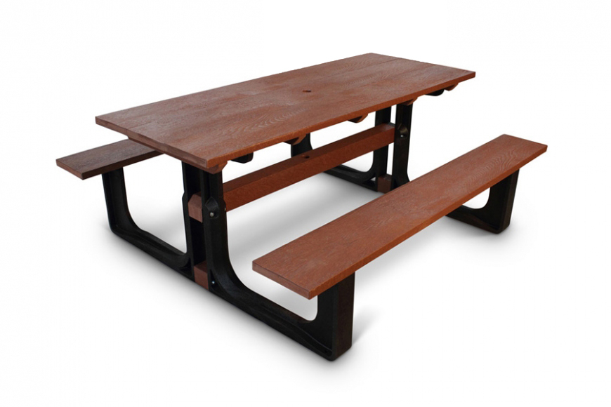 recycled plastic 8 seat picnic bench