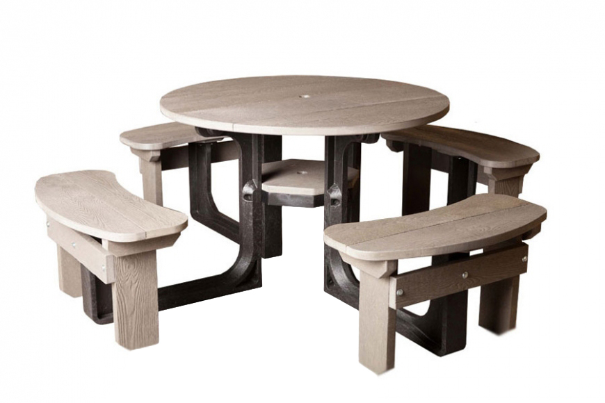 8 seater plastic picnic table
