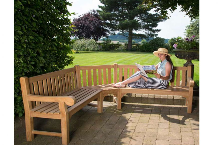 queensbury corner bench | gardenature