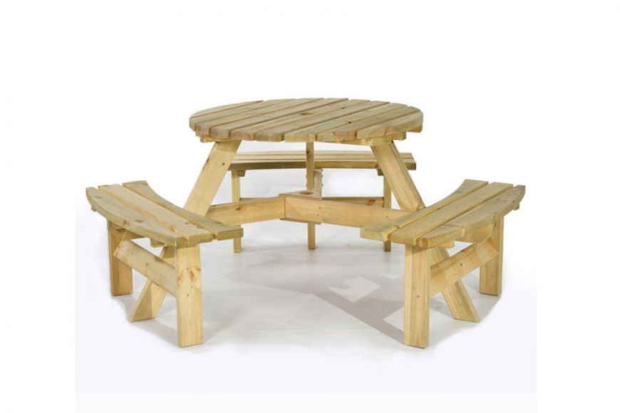 Brentwood 6 seater Round Picnic Table