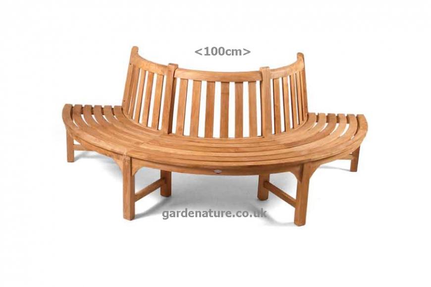 half round tree bench seat